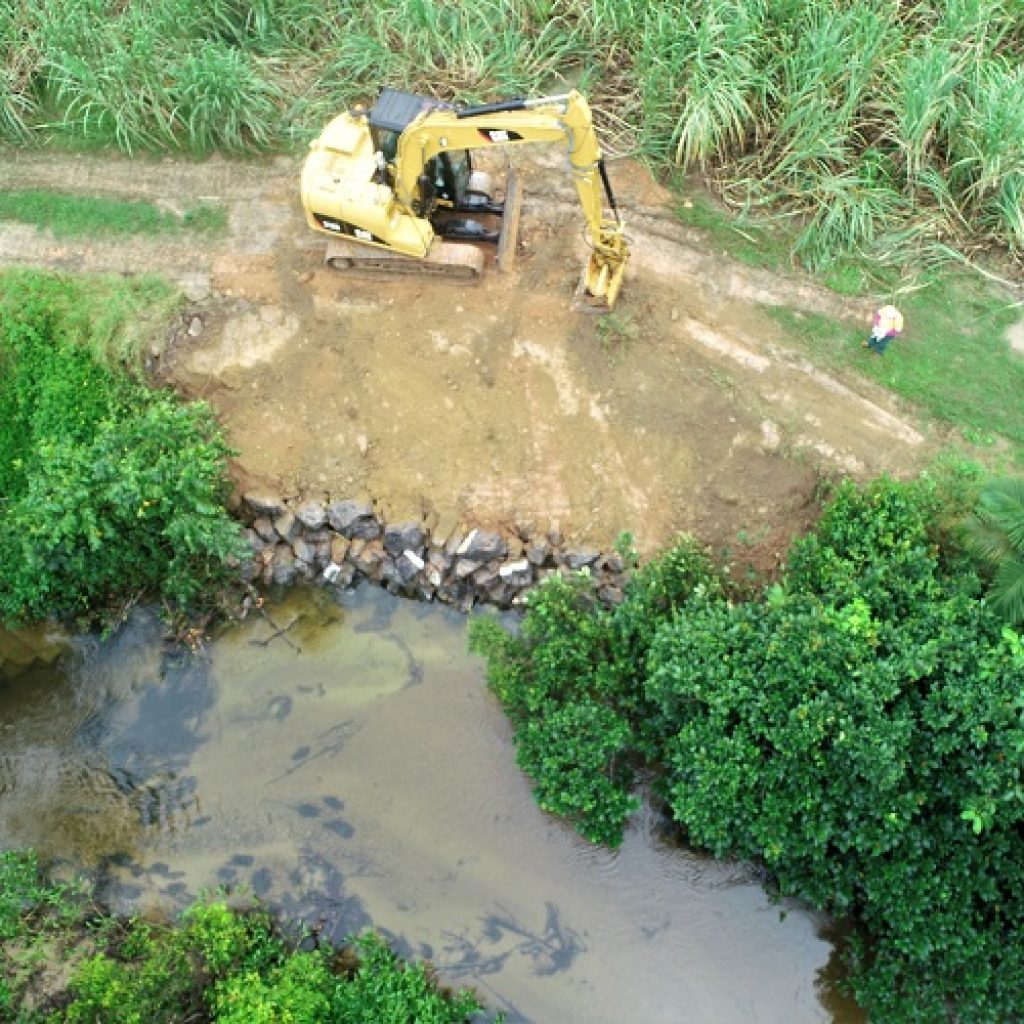 Riverbank Stabilisation Work